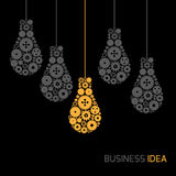 Business idea concept. Abstract lamps, Vector illustration Royalty Free Stock Photo