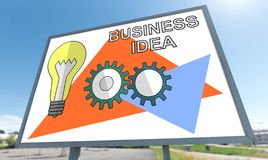 Business idea concept on a billboard royalty free stock image