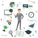 Business idea concept, businessman, Stock Image