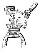 Business Idea concept doodles icons set sketch Stock Photography