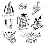 Business Idea concept doodles icons set sketch. Business Idea concept high detailed doodles icons set sketch Vector illustration hand drawn background Stock Image