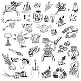 Business Idea concept doodles icons set sketch. Business Idea concept high detailed doodles icons set sketch Vector illustration hand drawn background Stock Photos