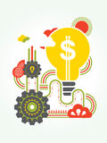 Business Idea concept Illustration Stock Photography