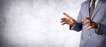 Business Idea concept. With male hands Stock Photography