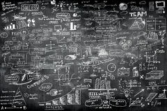 Business idea concept on wall. Blackboard blackground Stock Image