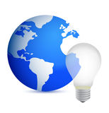 Business idea concept world globe illustration Royalty Free Stock Photography