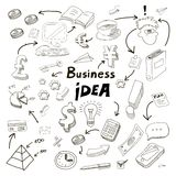 Business Idea doodles icons set. Royalty Free Stock Photos