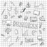 Business Idea doodles icons set. Vector illustration. Business background Stock Photo