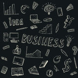 Business Idea doodles icons set. Vector illustration. Business background Royalty Free Stock Photo