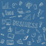 Business Idea doodles icons set. Vector illustration. Business background Stock Image