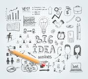 Business idea doodles Royalty Free Stock Photo