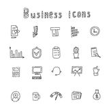 Business Idea hand drawn doodles icons set. Vector illustration. Business Idea hand drawn doodles icons set. Vector illustration Royalty Free Stock Images