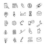 Business Idea hand drawn doodles icons set. Vector illustration. Business Idea hand drawn doodles icons set. Vector illustration Stock Images