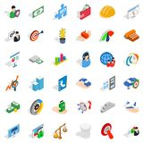 Business idea icons set, isometric style Royalty Free Stock Photo