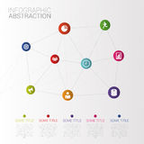 Business idea. Infographic abstraction. Icons. Vector Royalty Free Stock Images