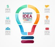Business idea infographic, light buble diagram Stock Photography