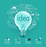Business idea infographics. Business idea. Doodle set - info-graphic background royalty free illustration