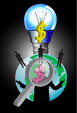 Business idea and lamp Royalty Free Stock Photo