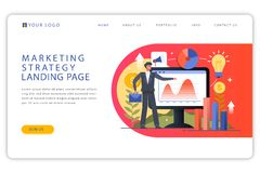 Business Idea Landing Page -vector royalty free illustration