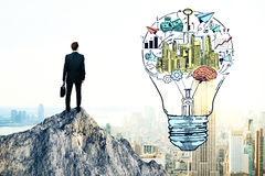 Business idea and leadership concept Royalty Free Stock Photos