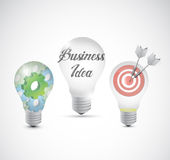 Business idea light bulbs info graphics Royalty Free Stock Images