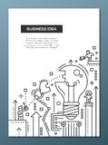 Business Idea - line design brochure poster template A4 Stock Photography