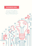 Business Idea - line design brochure poster template A4. Business Idea - vector line design brochure poster, flyer presentation template, A4 size layout. Robot Royalty Free Stock Photo