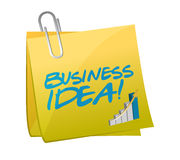 Business idea post illustration design Stock Photography