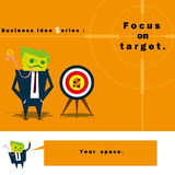 Business Idea series Focus on target Royalty Free Stock Photography