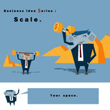Business idea series Scale. Vector,illustration Royalty Free Stock Images