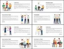 Business Idea Strategy Successful Teamwork Banners Royalty Free Stock Images