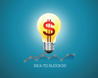 Business idea success Stock Images