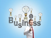 Business idea thumbs up Royalty Free Stock Photography