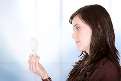 Business ideas - bulb Stock Images
