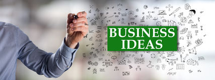 Business ideas concept drawn by a man Royalty Free Stock Image
