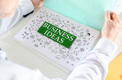 Business ideas concept on a paper Stock Photos