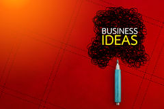 Business ideas concept with pencil and doodle Stock Image