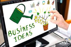 Business ideas concept on a computer monitor. Business ideas concept shown on a computer screen Stock Photo
