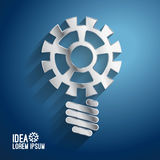 Business ideas concepts featuring light gear Stock Photo