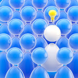 Business ideas: genius in a crowd of people. Business ideas: bright genius in a crowd of people stock illustration