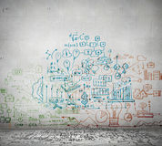 Business ideas sketch Royalty Free Stock Image