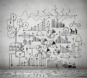 Business ideas sketch Stock Image