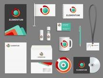 Business identity. Branding realistic vector mockup folder envelope cover for cd blank business cards check boxes usb vector illustration