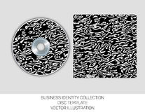 Business identity collection. Black and white chaos. CD or DVD cover template. Vector EPS10. vector illustration