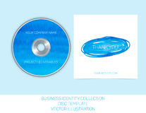 Business identity collection. Blue and turquoise watercolor. CD or DVD cover template. Vector Illustration EPS10.  stock illustration