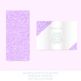 Business identity collection. Mauve, orchid, violet. Tri-fold brochure or flyer template Royalty Free Stock Photos