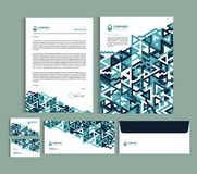 Business identity design templates. Stationery set. Business identity design templates. Stationery set - Letterhead A4 template, name card 3,5 x 2, envelope 8 Stock Illustration