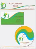 Business identity template Stock Images