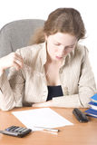 business iii reads woman Στοκ εικόνες με δικαίωμα ελεύθερης χρήσης