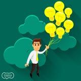 Business Illustrate. Creative idea businessman finding the success solution Stock Image